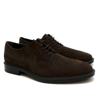 Tod's Brown Suede Lace Ups