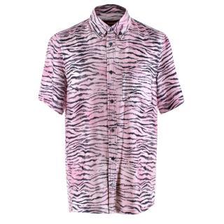 Sies Marjan Men's Oversized Pink Tiger Shirt