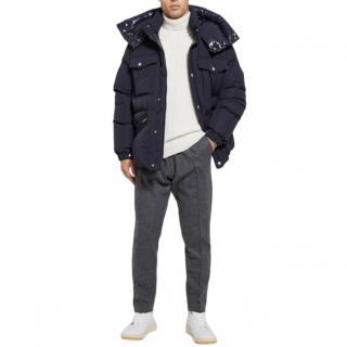 Moncler Navy Vilbert Hooded Padded Jacket