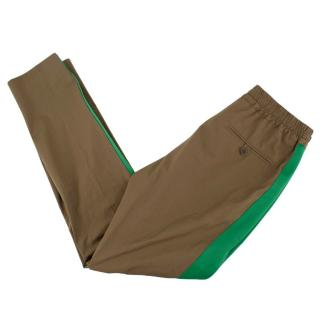 Stella McCartney Khaki Cotton Side Stripe Joggers