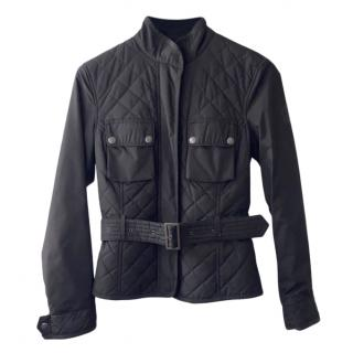 Bel staff black quilted and belted jacket