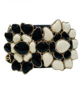 Chanel black/offwhite Metiers d'Art Paris Gripoix Cuff