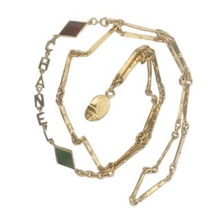 Chanel Goossens original 1960s Gold Plated Scarab Necklace