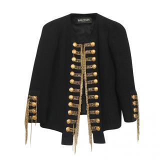 Balmain Black & Gold Military Collectors Jacket