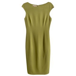 Michael Kors Green Virgin Wool Double Face Dress