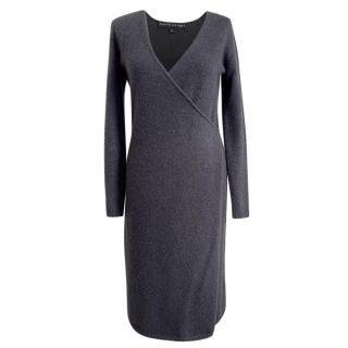 Ralph Lauren Grey Cashmere & Wool Wrap Dress