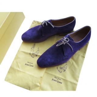 John Lobb x Paul Smith Handmade Blue Suede Shoes