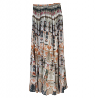 Dior Tie Dye Cotton Maxi Skirt