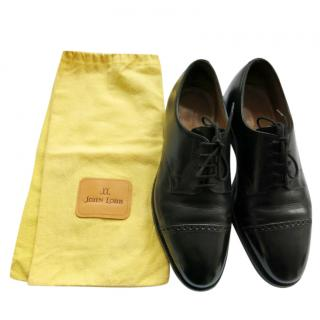 John Lobb Black Buffalo Leather Russel Oxfords