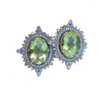 Noor Fares Lemon Quartz & Diamond Earrings
