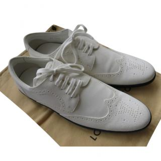 Louis Vuitton White Leather Corcovado Derby Sneakers