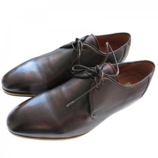Santoni for Otto Limited Edition Dark Brown Leather Oxfords