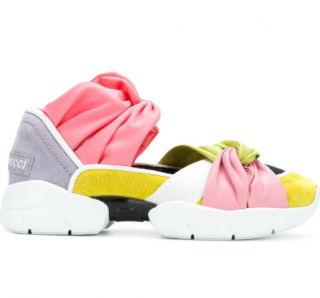 Emilio Pucci Multicolour Knotted Cut-Out Sneakers