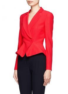 Alexander McQueen Red Crepe Tailored Jacket