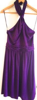 Halston Heritage purple dress