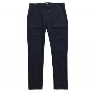 Paige Denim Blue Cargo Trousers