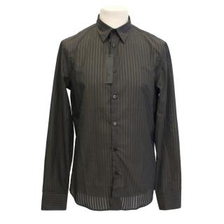 J. Lindeberg Brown Two Toned Strip Shirt