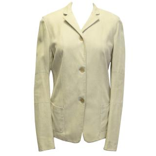 Burberry Beige Leather Jacket