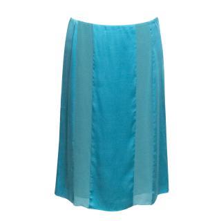 Philosophy di Alberta Ferretti Turquoise Skirt