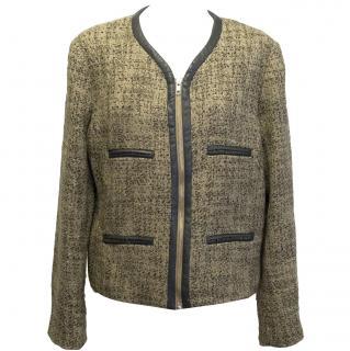 Malene Birger Cream and Black Tweed Jacket