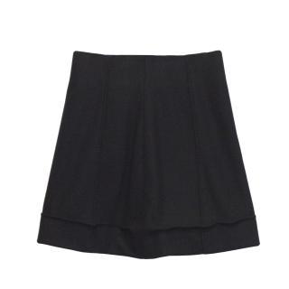 Olivier Strelli Thick Black Wool Skirt