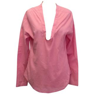 Malene Birger Pink Top with Orange Sequin Detail