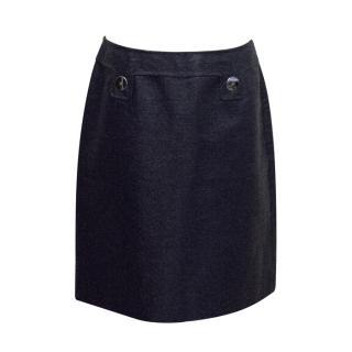 Per Se Navy Woven Skirt
