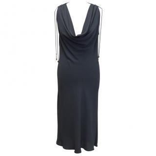 Celine Grey Cowl Neck Dress