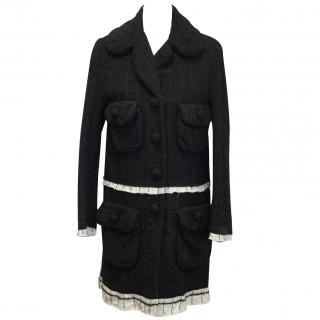 Marc Jacobs Black Woven Coat