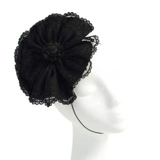 Rouleau Couture Black Lace Fascinator