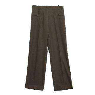 Oliver Strelli boot cut wool trousers