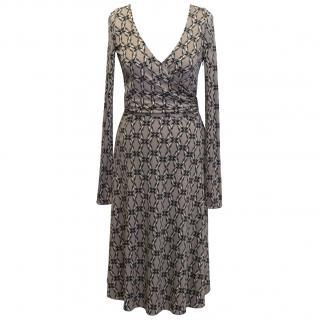 Issa London Printed Mauve Dress