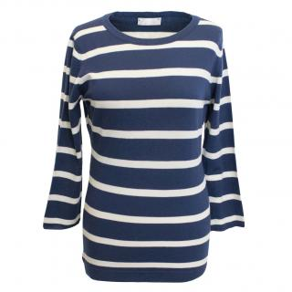 Margaret Howell Navy and White Striped Jumper
