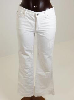 Moschino Jeans in White with Peace Logo Prints