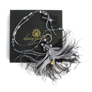 Daisy Jubilee Burlesque Ostrich & Swarovski Necklace