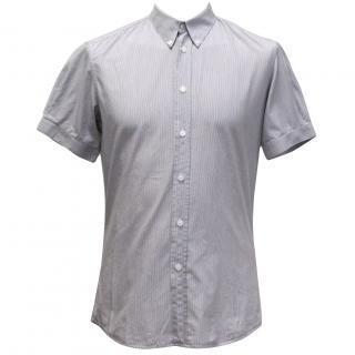 Alexander McQueen Grey and White Pinstripe Shirt