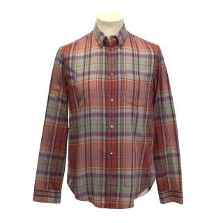 Marc Jacobs salmon plaid shirt