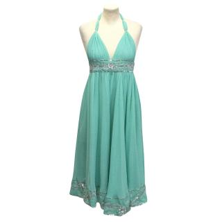 Tashia London Aqua Halter Neck Dress