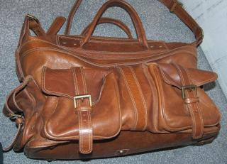Mulberry tan leather holdall