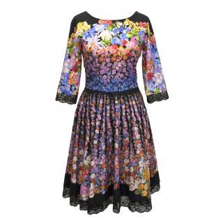 Alberta Ferretti Floral Runway Dress