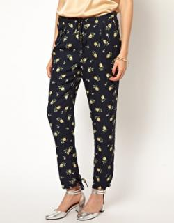 Girl. By Band Of Outsiders Navy Floral Trousers