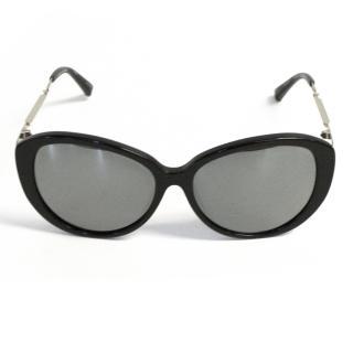 Linda Farrow for Prabal Gurung Black Sunglasses