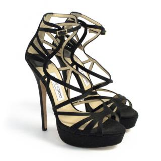 Jimmy Choo Black Ontario Sandals