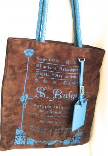 Limited edition Bvlgari suede handbag