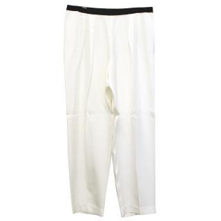 Dries Van Noten White Trousers