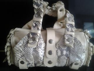 Chloe Silverado Snakeskin Handbag