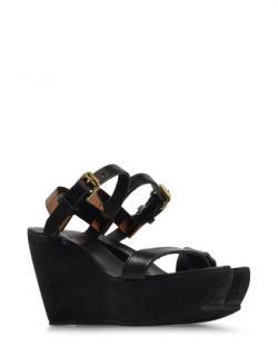 Acne Estelle Bronze leather & Black Suede platform sandals. Size IT39