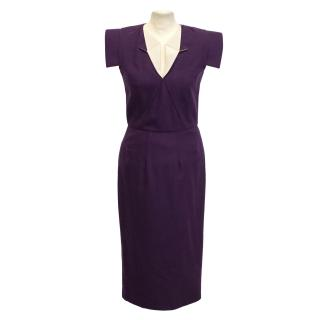Limited Edition for Net- A- Porter By RM purple shift dress