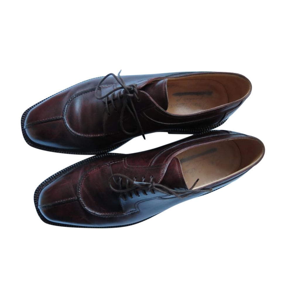 Silvano Lattanzi Bordeaux Leather Split-Toe Loafers