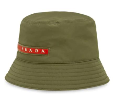 Prada Men's M Linea Rossa bucket hat